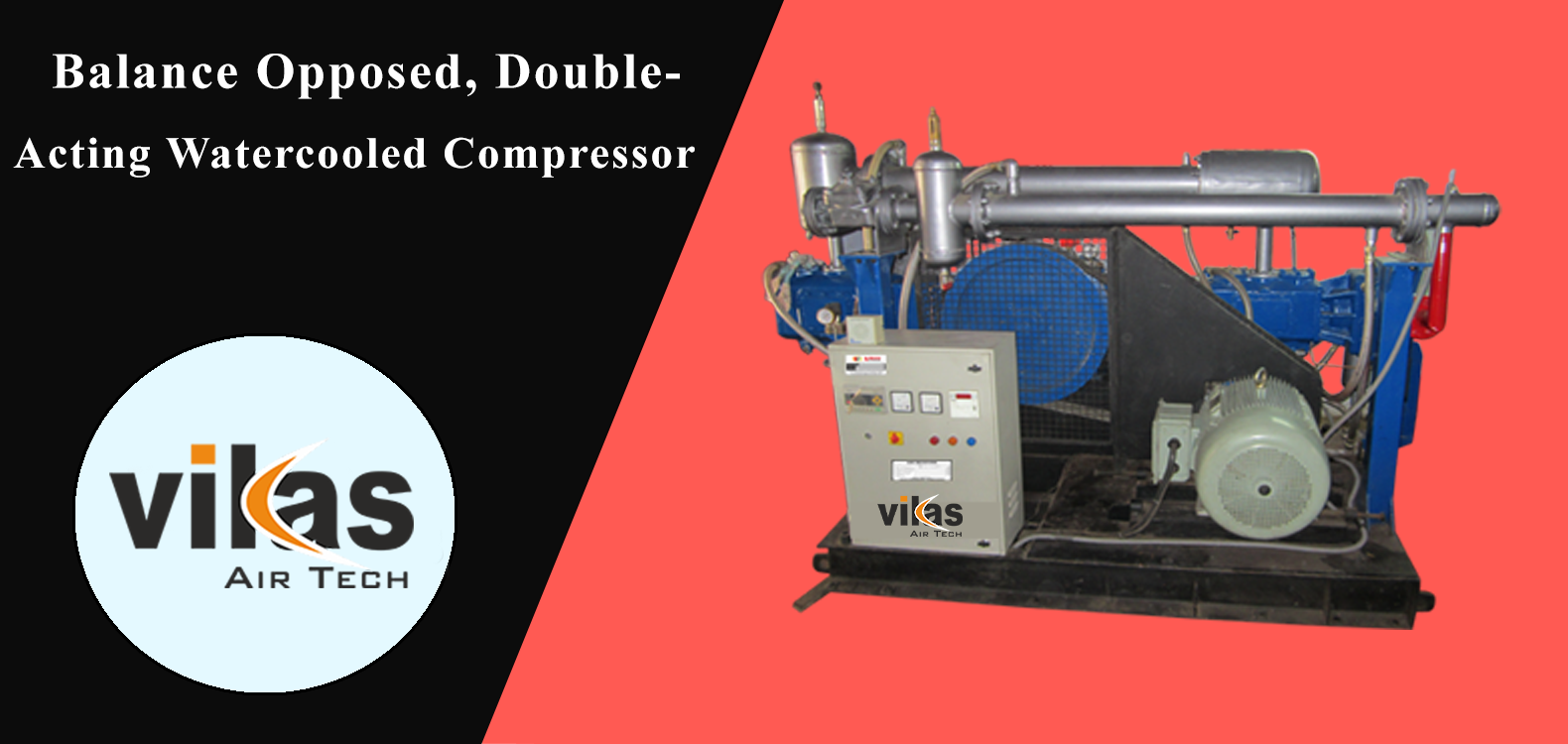 Balanced Opposed Double Acting, Industrial Air Compressors Suppliers in Ahmedabad, Gujarat, India