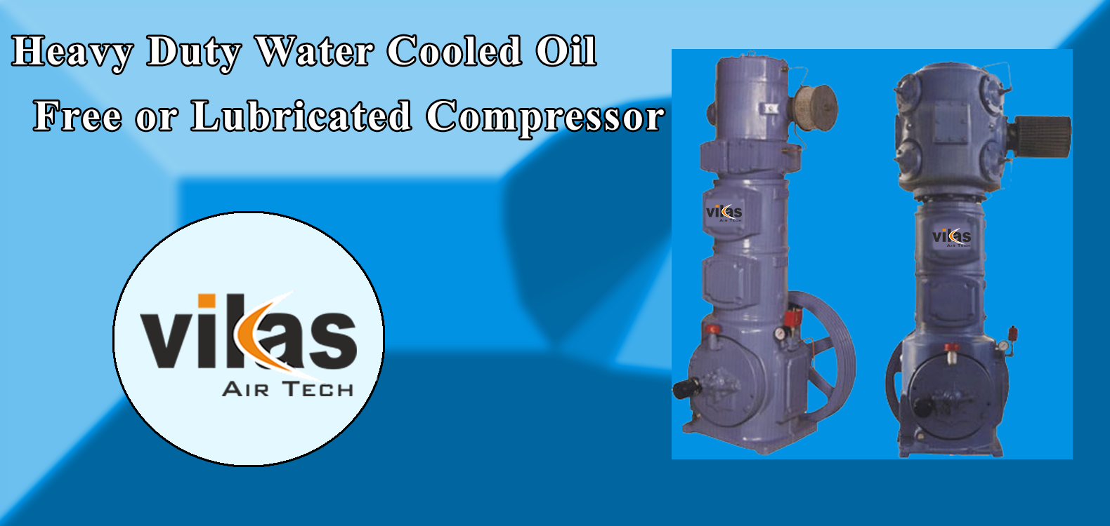 Heavy Duty Water Cooled Oil Lubricated Compressor, Air Compressor Manufacturers in India, Air Compressor Manufacturers in Ahmedabad, Air Compressor Manufacturers in Gujarat